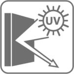 Reflektiert UV-Strahlung