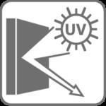 reflects UV-radiation