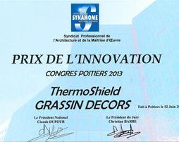 Auszeichnung Prix de L'innovation