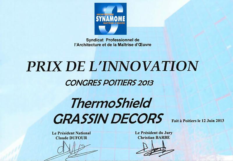 Zertifikat Prix de L'innovation