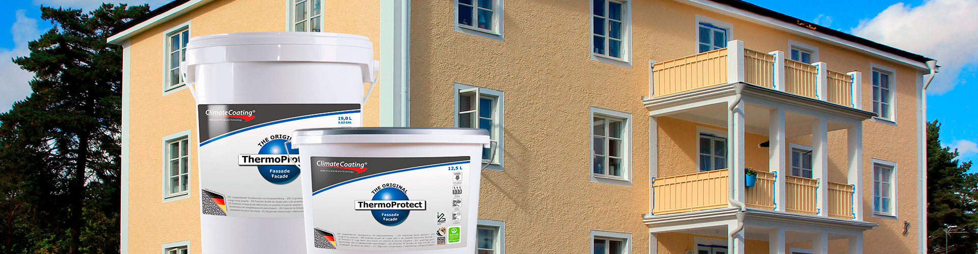 ThermoProtect – Facades – Beautiful, algae-free and intact even after many years. Thanks to facade paint ThermoProtect
