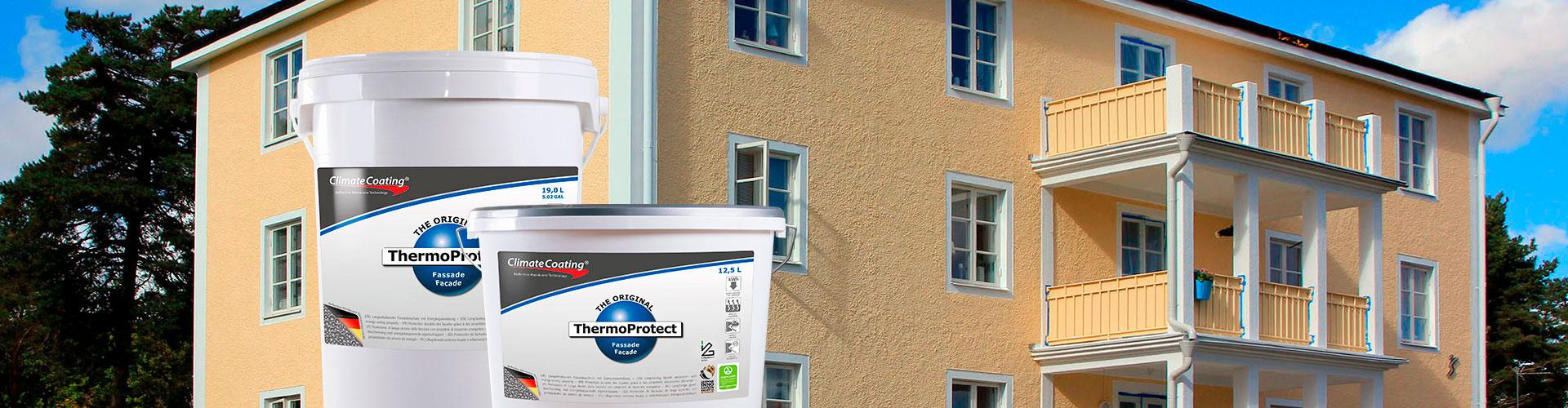 ThermoProtect – Fassaden – Auch nach vielen Jahren schön, algenfrei und intakt. Dank Fassadenfarbe ThermoProtect