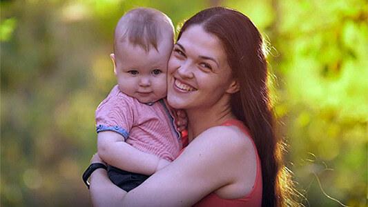 Kind und Frau