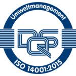Zertifikat ISO 14001 2015 DE