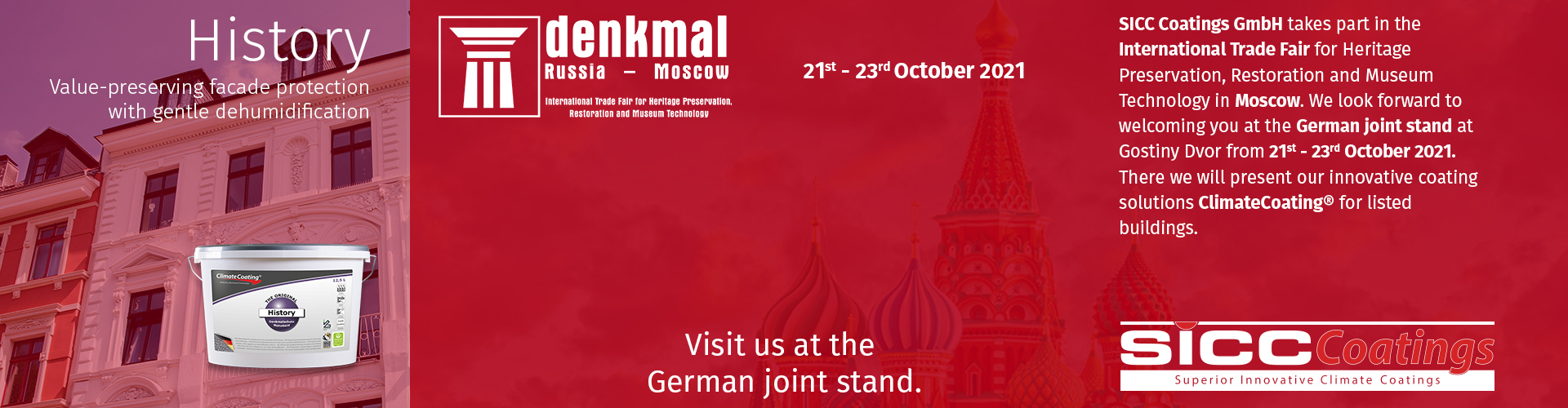International Trade Fair for Heritage Preservation, Restoration and Museum Technology – Moscow